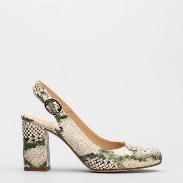 bea9e1043e2 Zapato de salón Destalonado kaki 18